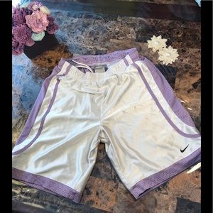 Small Nike Shorts lavender purple white drawstring